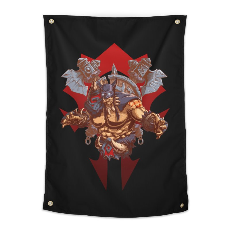 Rexxar War Craft Home Tapestry by fishark's Artist Shop