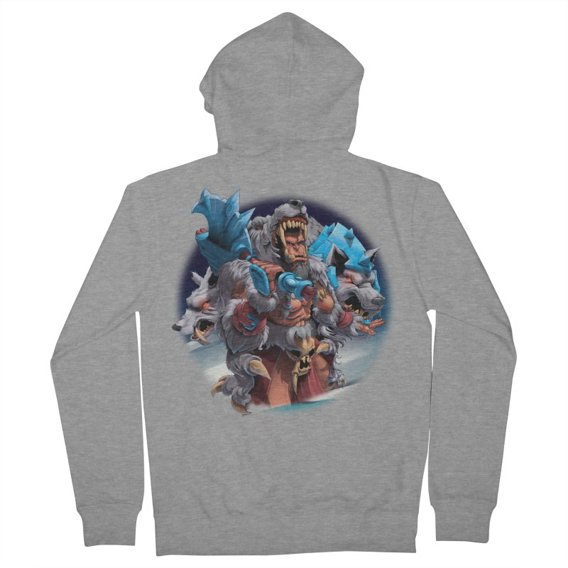Durotan WarCraft Men's French Terry Zip-Up Hoody by fishark's Artist Shop