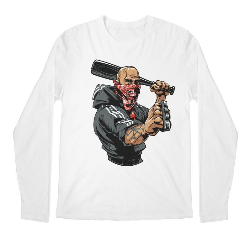 Bandit Men's Regular Longsleeve T-Shirt by fishark's Artist Shop