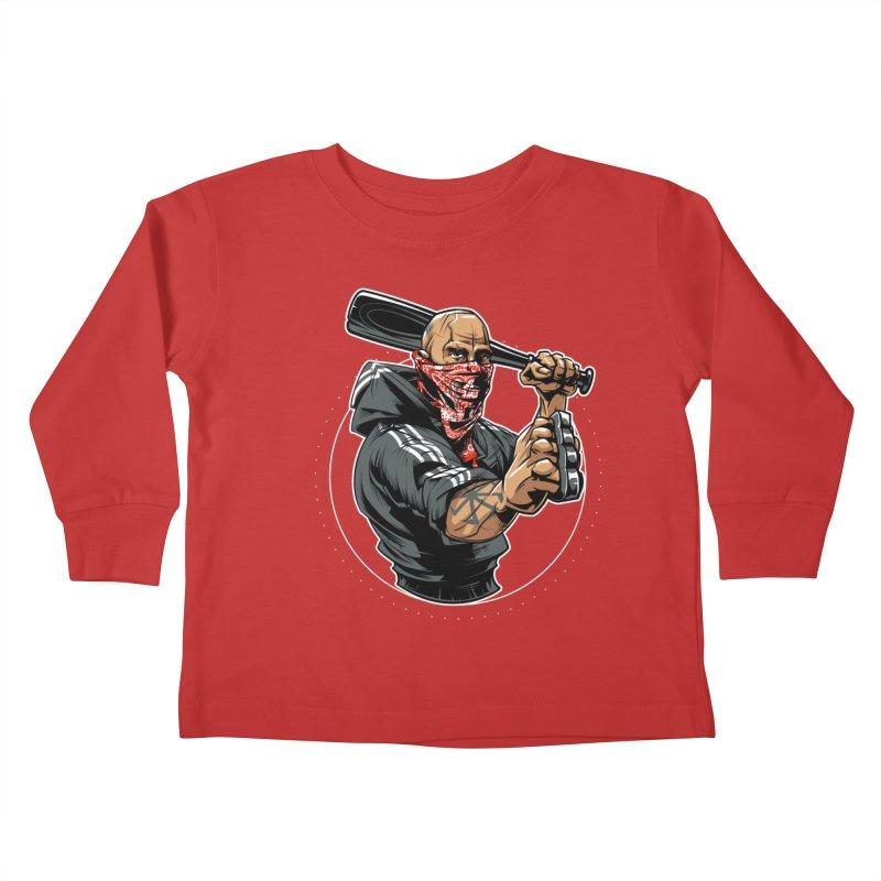Bandit Kids Toddler Longsleeve T-Shirt by fishark's Artist Shop