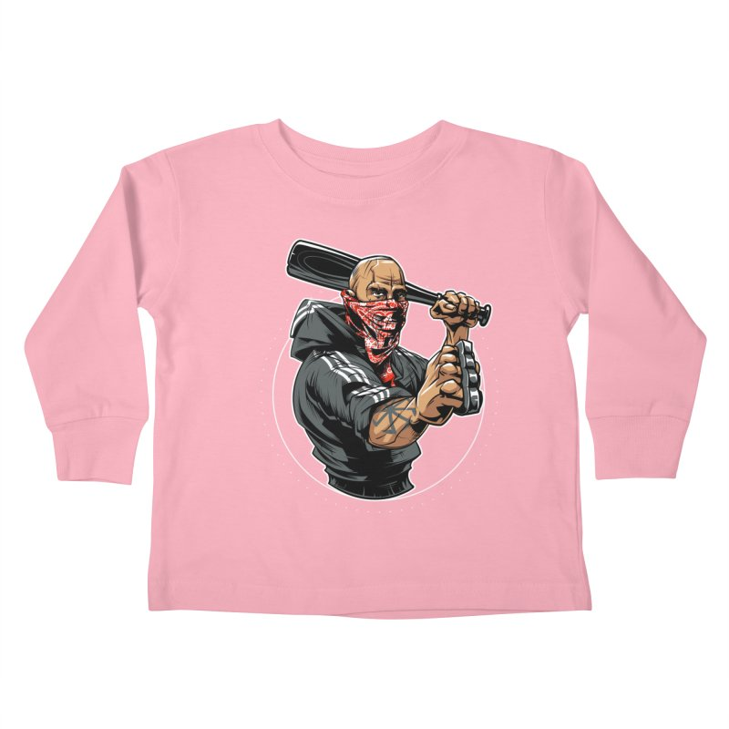 Bandit Kids Toddler Longsleeve T-Shirt by fishark's Artist Shop