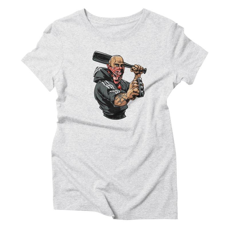 Bandit Women's Triblend T-Shirt by fishark's Artist Shop