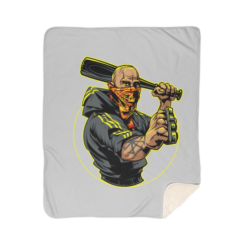 Bandit Home Sherpa Blanket Blanket by fishark's Artist Shop