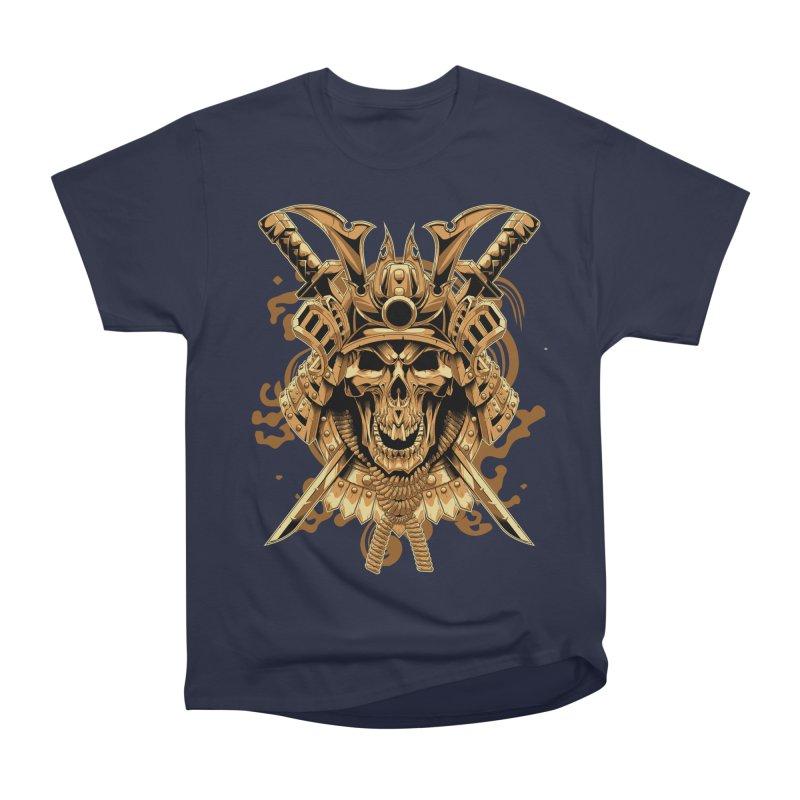 Skull samurai Men's Heavyweight T-Shirt by fishark's Artist Shop