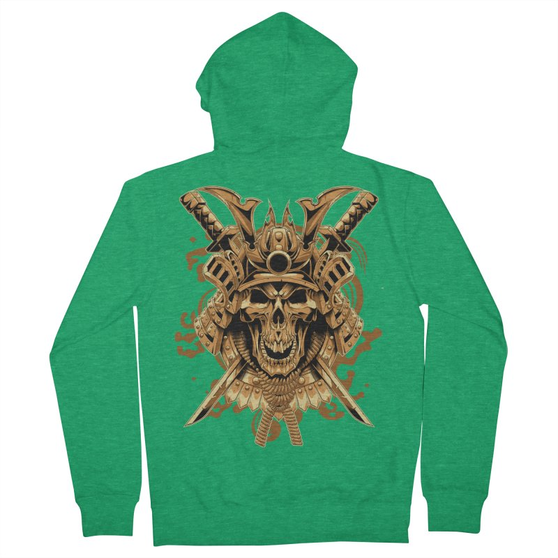 Skull samurai Men's Zip-Up Hoody by fishark's Artist Shop