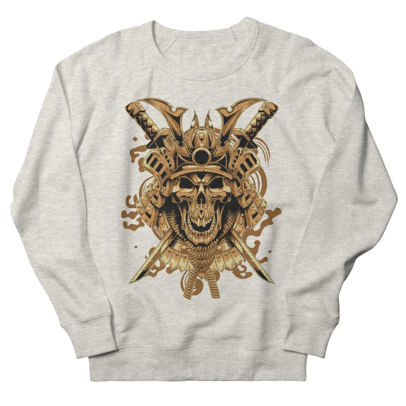 Skull samurai Men's French Terry Sweatshirt by fishark's Artist Shop