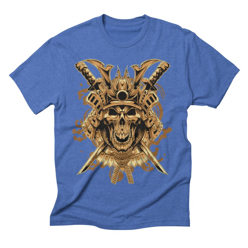 Skull samurai Men's Triblend T-Shirt by fishark's Artist Shop