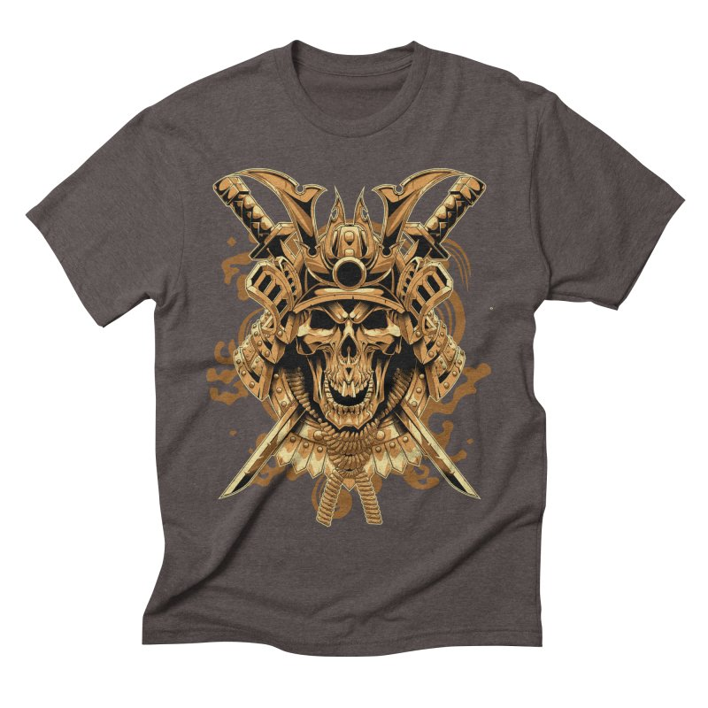 Skull samurai Men's Triblend T-Shirt by fishark's Artist Shop
