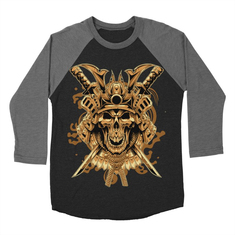 Skull samurai Men's Baseball Triblend T-Shirt by fishark's Artist Shop