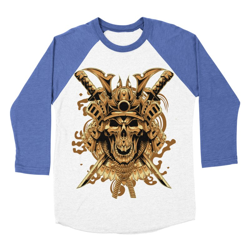 Skull samurai Men's Baseball Triblend Longsleeve T-Shirt by fishark's Artist Shop