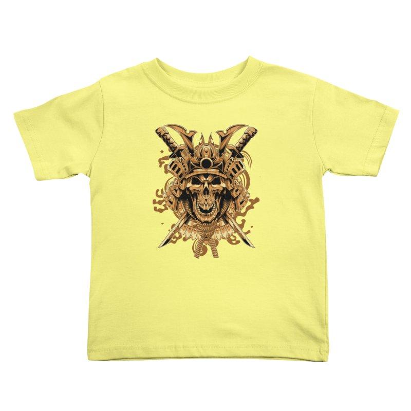 Skull samurai Kids Toddler T-Shirt by fishark's Artist Shop