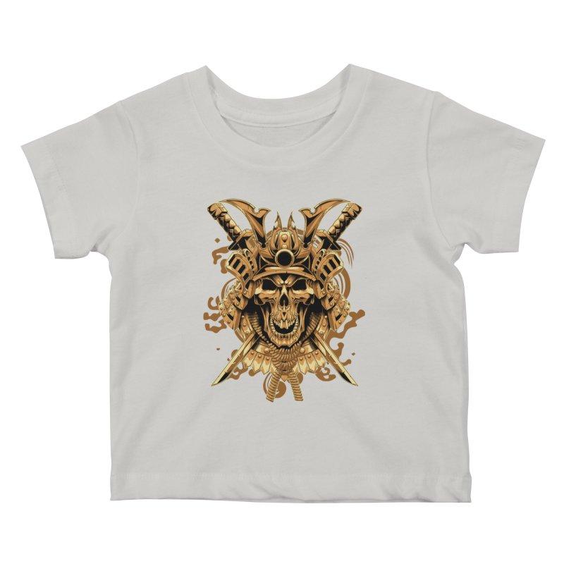 Skull samurai Kids Baby T-Shirt by fishark's Artist Shop