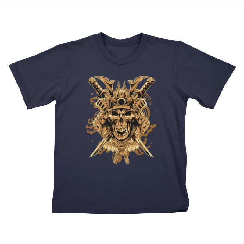 Skull samurai Kids T-Shirt by fishark's Artist Shop