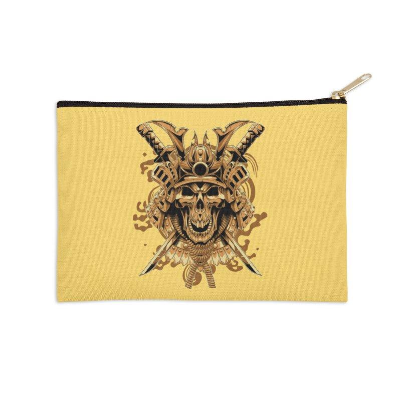 Skull samurai Accessories Zip Pouch by fishark's Artist Shop