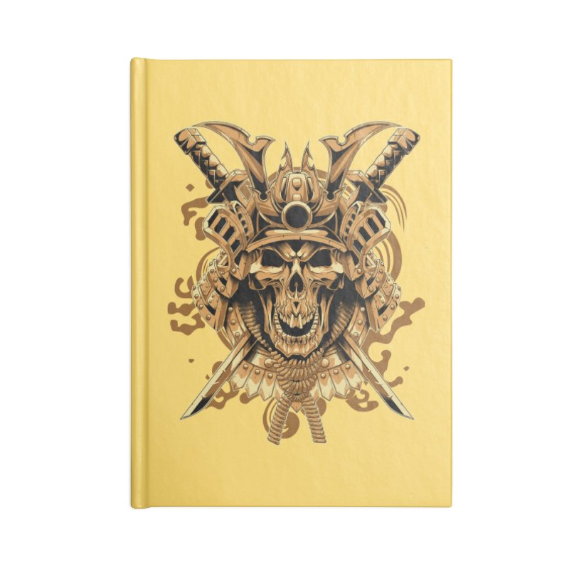 Skull samurai Accessories Notebook by fishark's Artist Shop