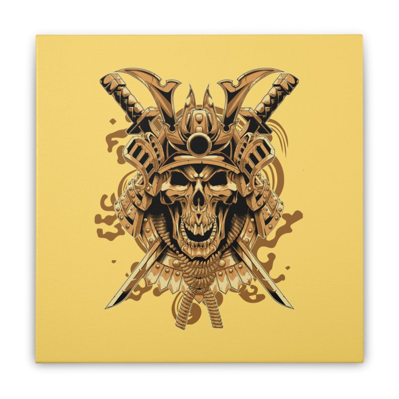 Skull samurai Home Stretched Canvas by fishark's Artist Shop