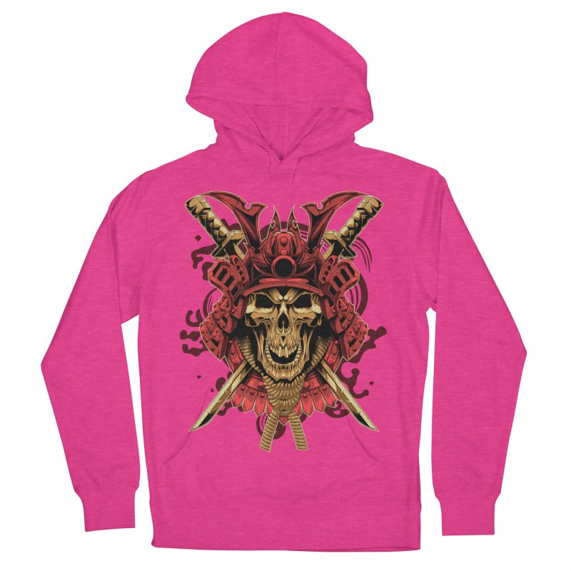 Skull Samurai Men's French Terry Pullover Hoody by fishark's Artist Shop