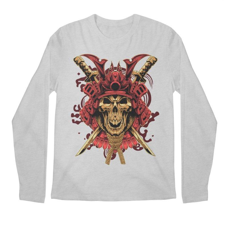 Skull Samurai Men's Regular Longsleeve T-Shirt by fishark's Artist Shop