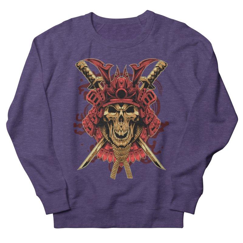 Skull Samurai Women's Sweatshirt by fishark's Artist Shop