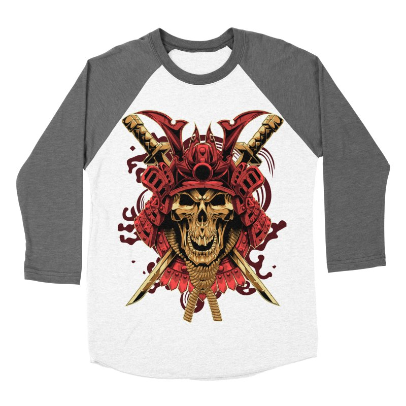 Skull Samurai Women's Baseball Triblend Longsleeve T-Shirt by fishark's Artist Shop