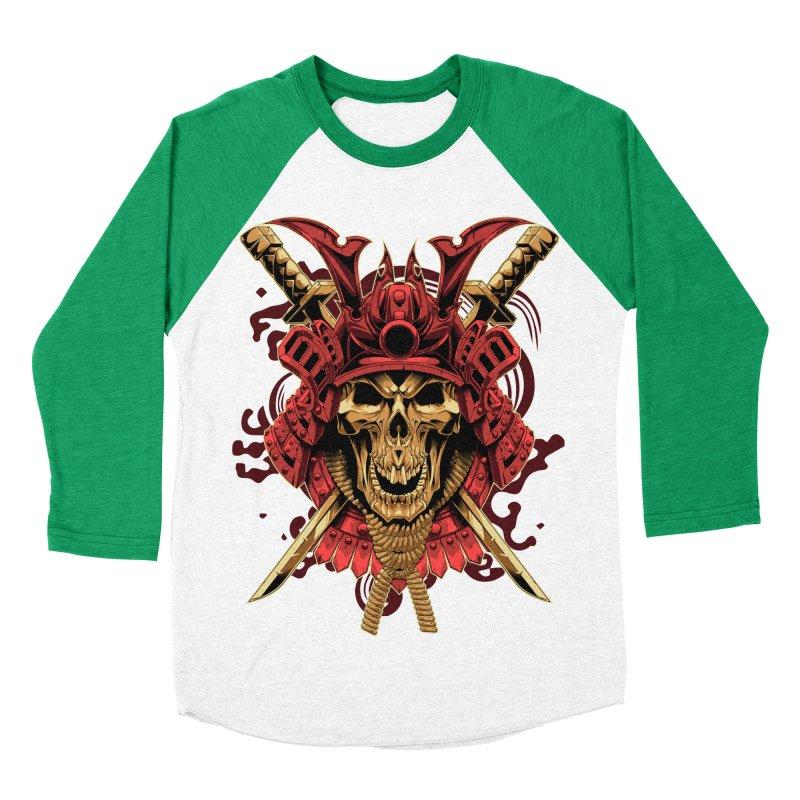 Skull Samurai Women's Baseball Triblend Longsleeve T-Shirt by fishark's Artist Shop