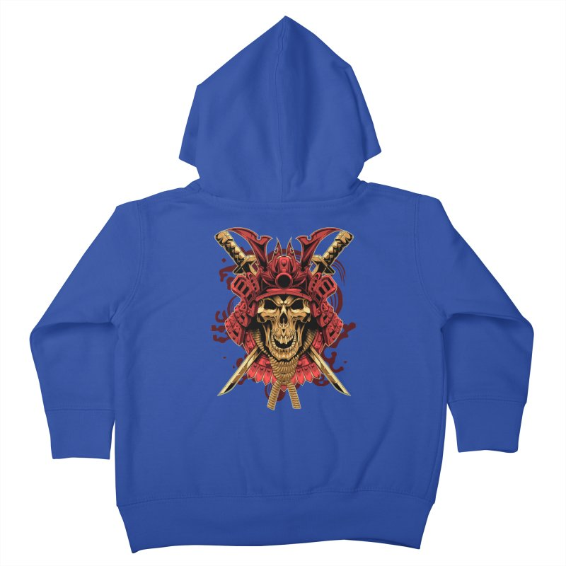 Skull Samurai Kids Toddler Zip-Up Hoody by fishark's Artist Shop
