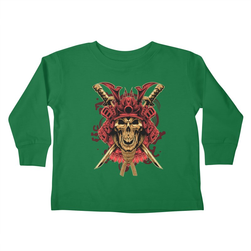 Skull Samurai Kids Toddler Longsleeve T-Shirt by fishark's Artist Shop