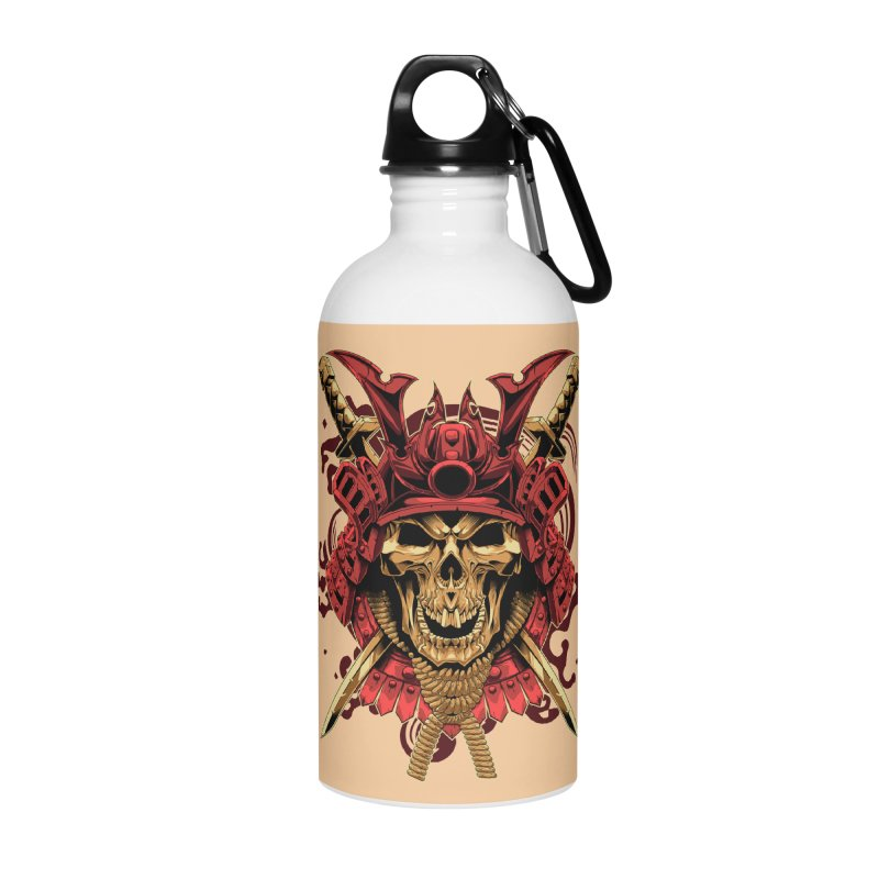 Skull Samurai Accessories Water Bottle by fishark's Artist Shop