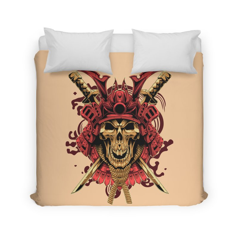 Skull Samurai Home Duvet by fishark's Artist Shop