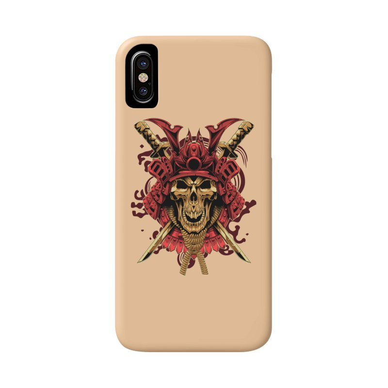 Skull Samurai Accessories Phone Case by fishark's Artist Shop