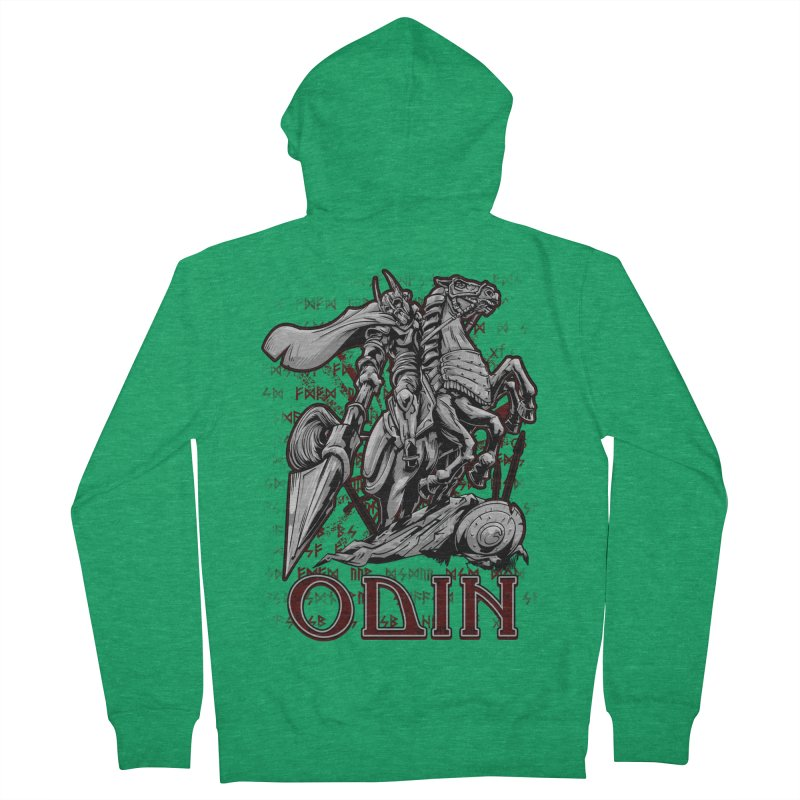 Odin Men's French Terry Zip-Up Hoody by fishark's Artist Shop
