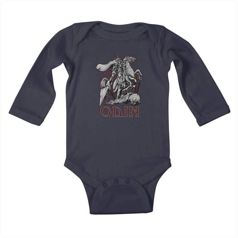 Odin Kids Baby Longsleeve Bodysuit by fishark's Artist Shop