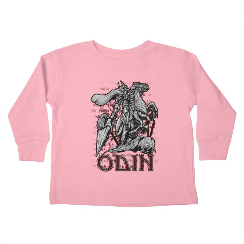 Odin Kids Toddler Longsleeve T-Shirt by fishark's Artist Shop