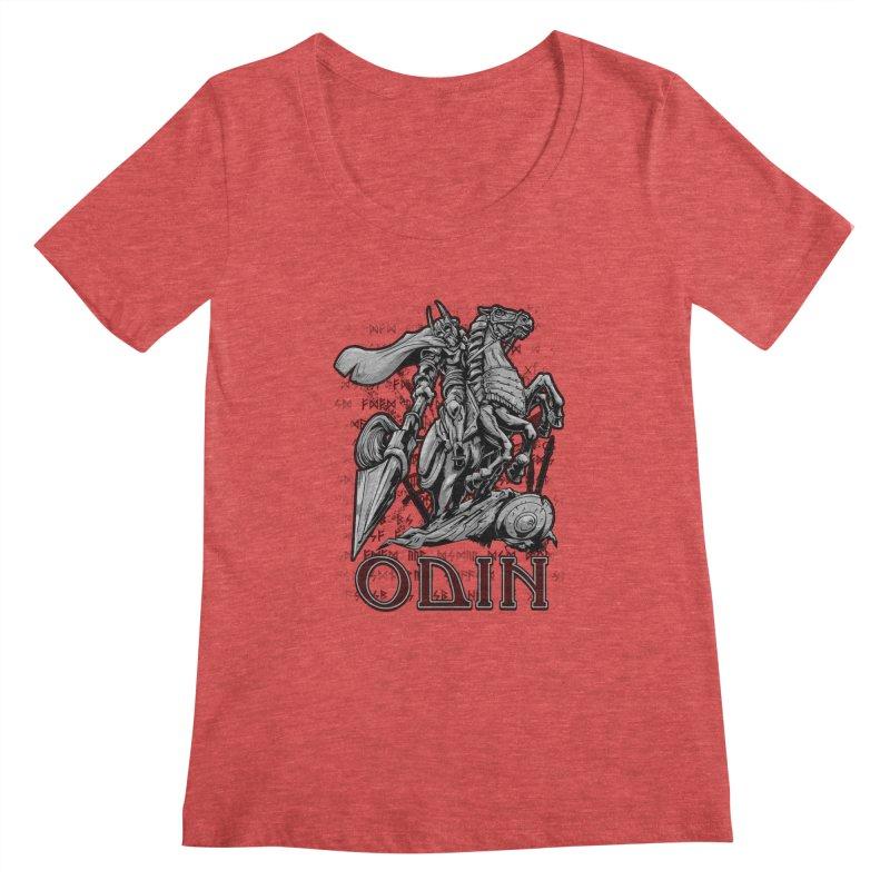 Odin Women's Scoopneck by fishark's Artist Shop