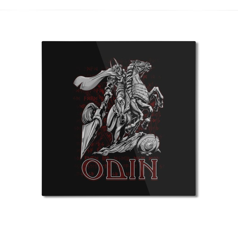 Odin Home Mounted Aluminum Print by fishark's Artist Shop