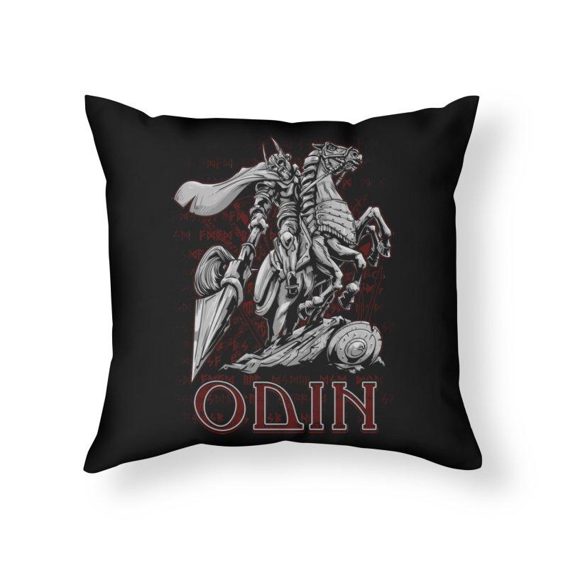 Odin Home Throw Pillow by fishark's Artist Shop