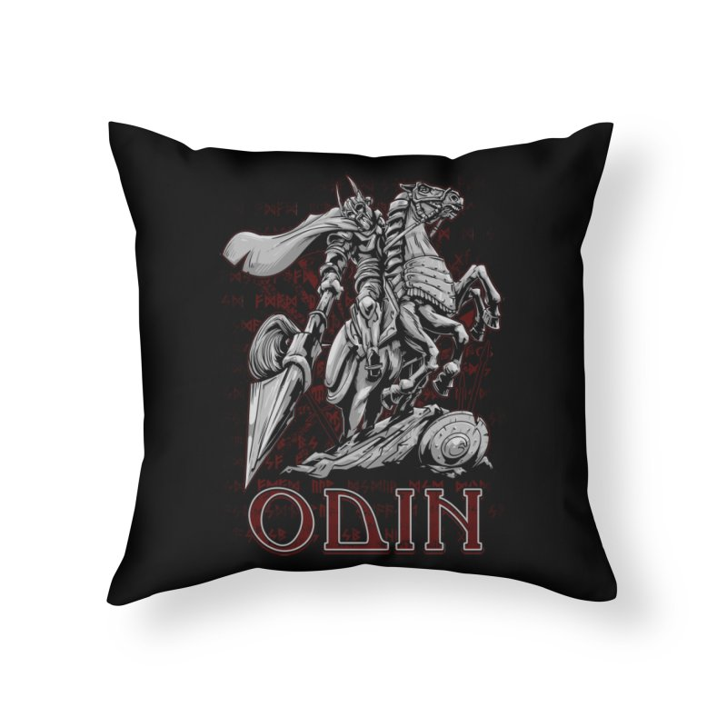 Odin Home Throw Pillow by fishark's Artist Shop