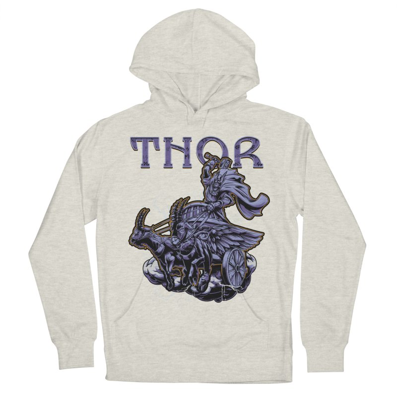 Thor Men's French Terry Pullover Hoody by fishark's Artist Shop