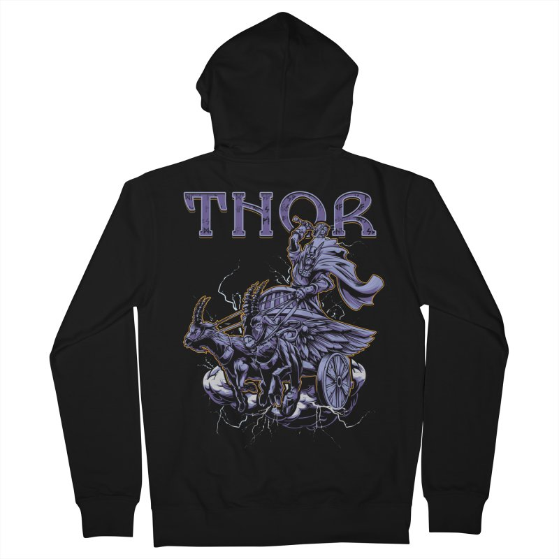 Thor Women's French Terry Zip-Up Hoody by fishark's Artist Shop