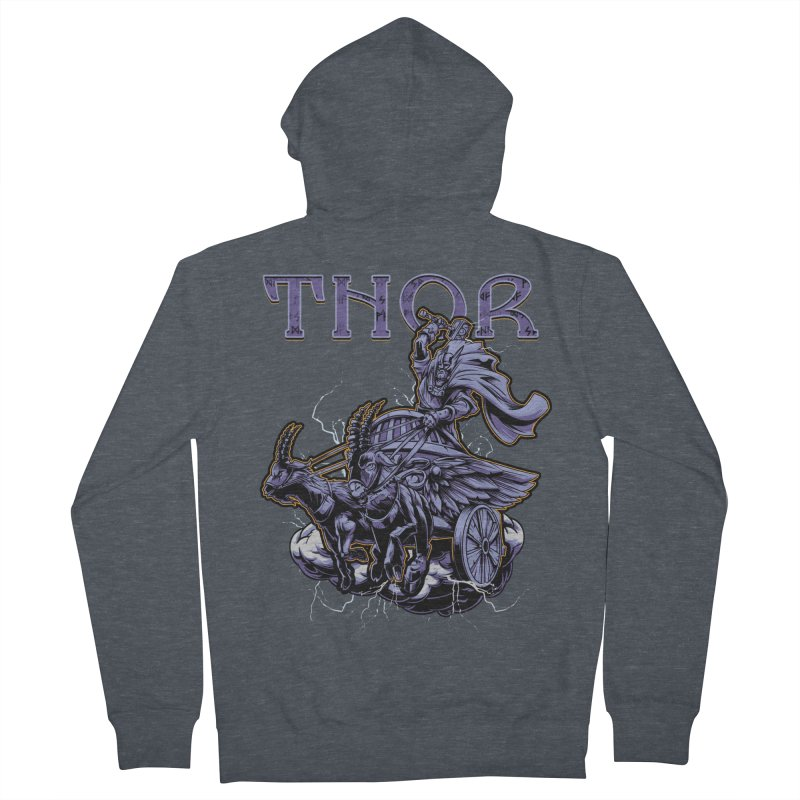 Thor Men's French Terry Zip-Up Hoody by fishark's Artist Shop