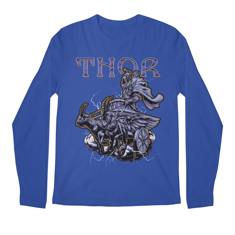 Thor Men's Regular Longsleeve T-Shirt by fishark's Artist Shop
