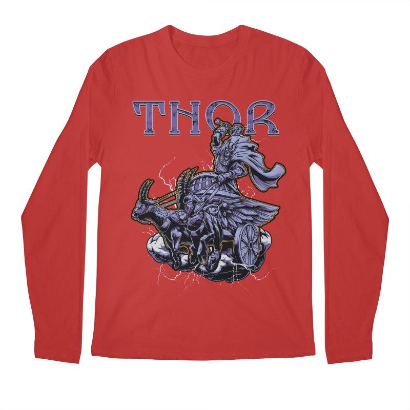 Thor Men's Regular Longsleeve T-Shirt by fishark's Artist Shop