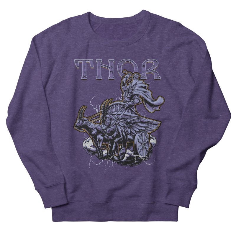 Thor Men's French Terry Sweatshirt by fishark's Artist Shop