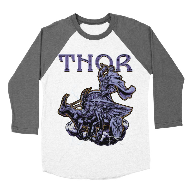 Thor Women's Baseball Triblend Longsleeve T-Shirt by fishark's Artist Shop