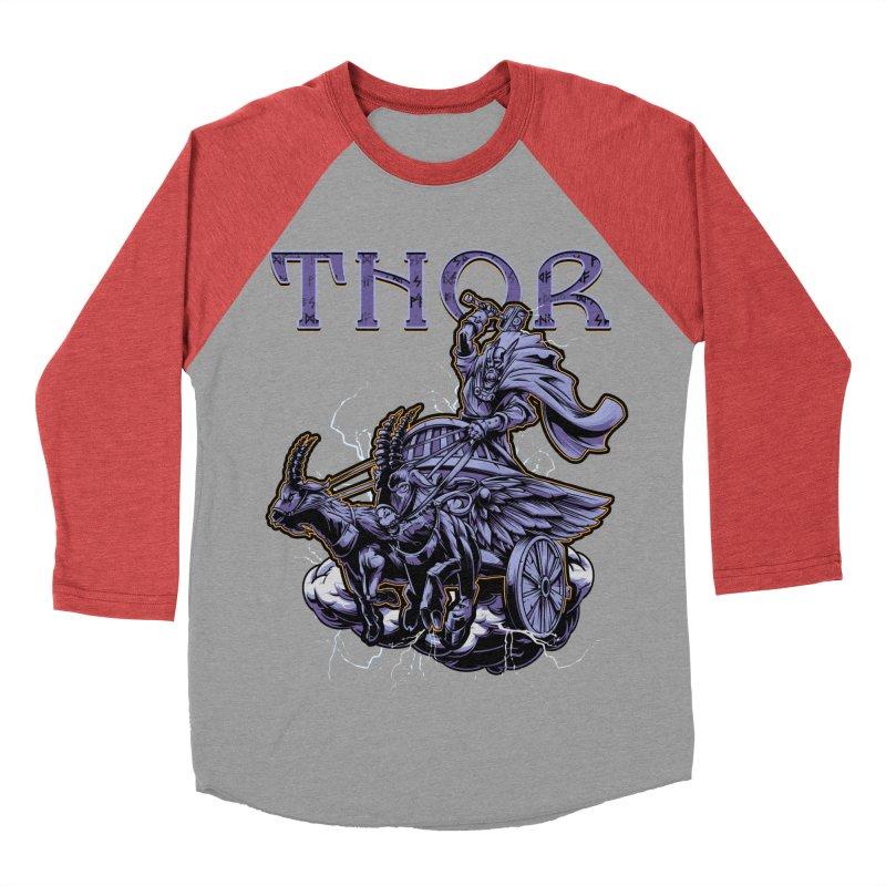 Thor Women's Baseball Triblend T-Shirt by fishark's Artist Shop