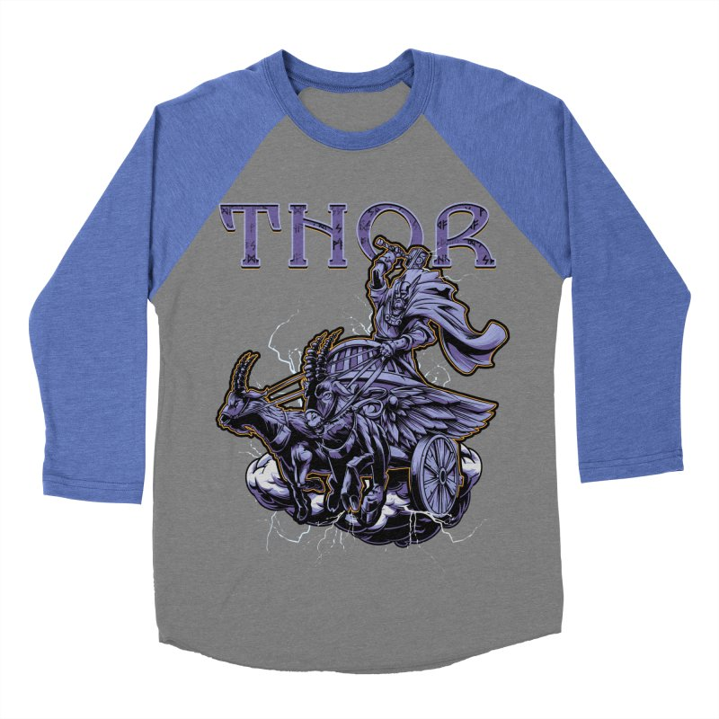 Thor Men's Baseball Triblend T-Shirt by fishark's Artist Shop