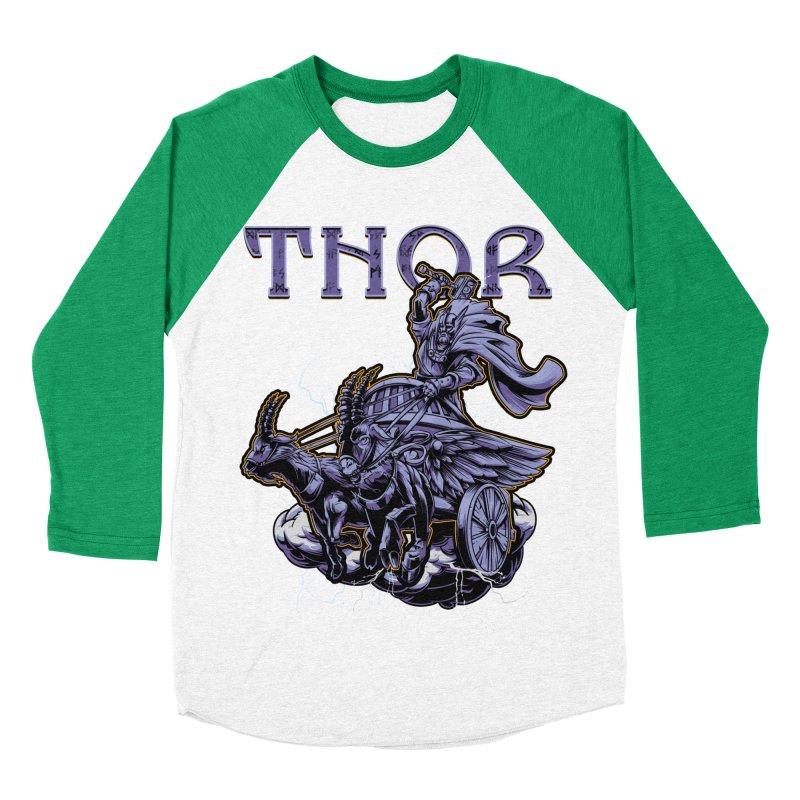 Thor Men's Baseball Triblend Longsleeve T-Shirt by fishark's Artist Shop