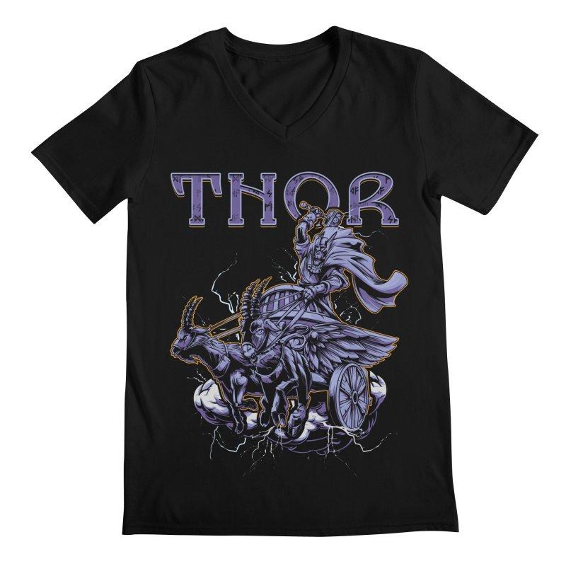 Thor Men's Regular V-Neck by fishark's Artist Shop