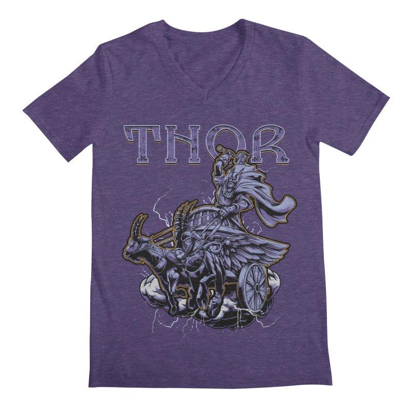Thor Men's V-Neck by fishark's Artist Shop
