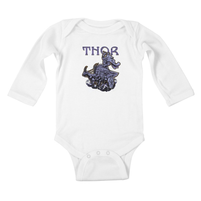 Thor Kids Baby Longsleeve Bodysuit by fishark's Artist Shop